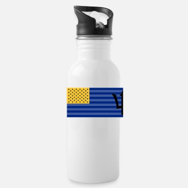 Bajan Bajan American flag - Water Bottle