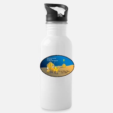 Gps Wise Men Christmas GPS - Water Bottle