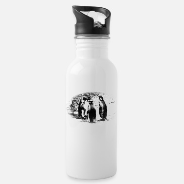 Ice Floe Penguin, ice, Antarctic, ice floe, South Pole - Water Bottle