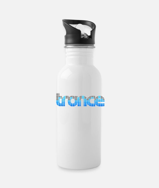 Bass Mugs & Cups - Trance EQ (Blue) - Water Bottle white