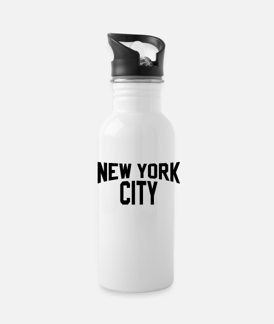 Super Mugs & Cups - Vintage NEW YORK CITY T Shirt Super Soft JOHN - Water Bottle white