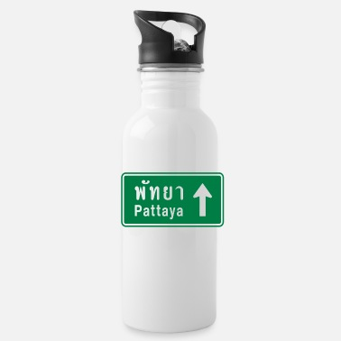 Funny Pattaya Pattaya, Thailand / Highway Road Traffic Sign - Water Bottle