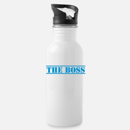 Manager Mugs & Drinkware - THE BOSS in stencil funny - Water Bottle white