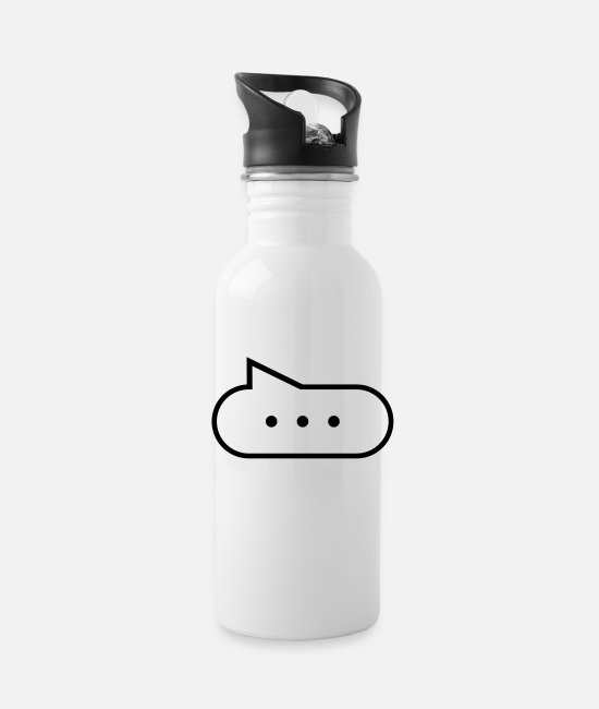 Vote Mugs & Cups - Speech bubble with points - Water Bottle white