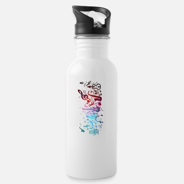 Music Is Life Music - Water Bottle
