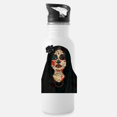 Skull Day Of The Dead Girl Design - Water Bottle