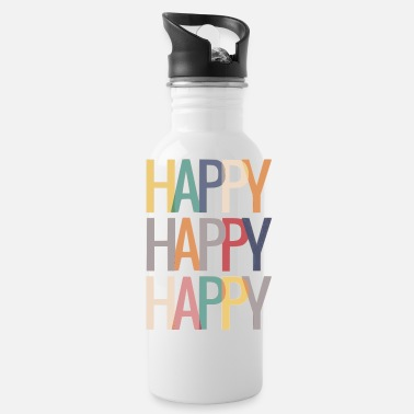 Happy Shirt, Choose Happy Shirt - Water Bottle