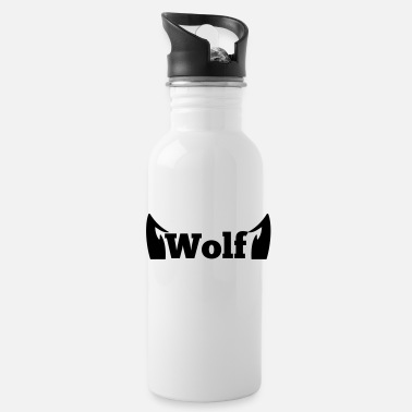Love Wolves wolf in type with cute ears - Water Bottle