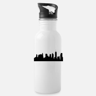 Constitutional Brooklyn Skyline Silhouette - Water Bottle