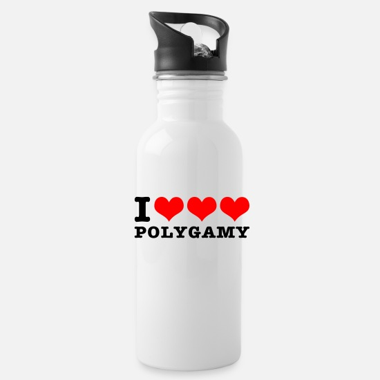 Wife Mugs & Drinkware - I love polygamy - Water Bottle white