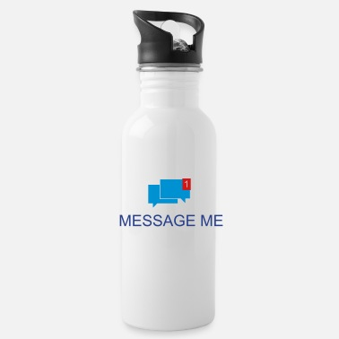 Message Message me 3c - Water Bottle