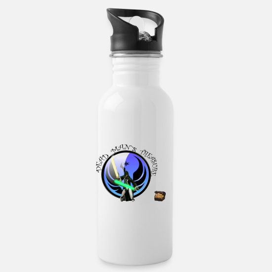 Guild Mugs & Drinkware - Dead Man's Treasure - Water Bottle white