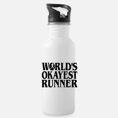 Worlds Okayest Runner b - Water Bottle