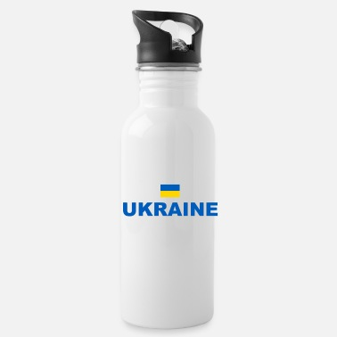 Ukraine - Coat - Flag - Sport - Europe - Water Bottle