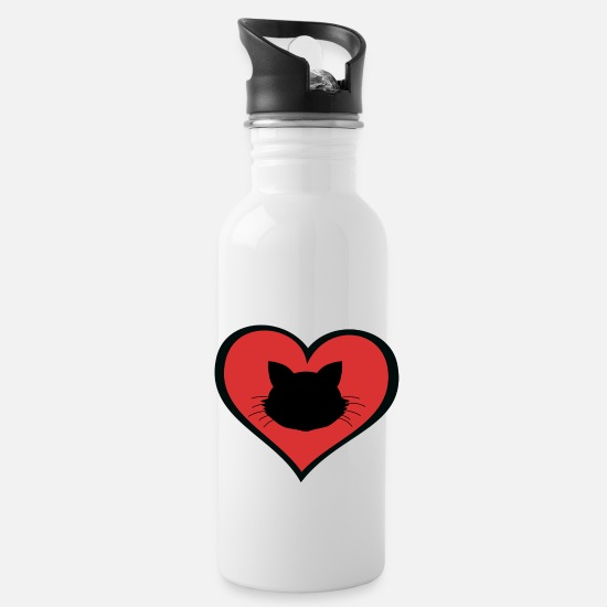 Love Mugs & Drinkware - Cat love - Water Bottle white
