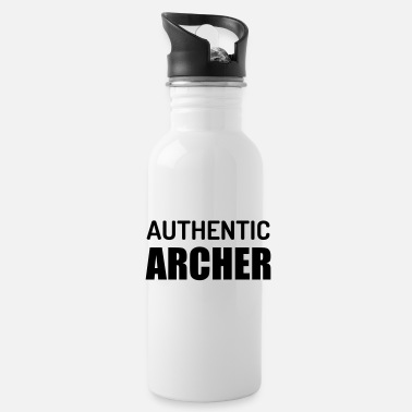 Fashion Joke Quote Authentic Archer - Water Bottle