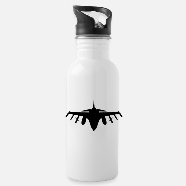 Fighter Silhouette Jet Fighter - Water Bottle