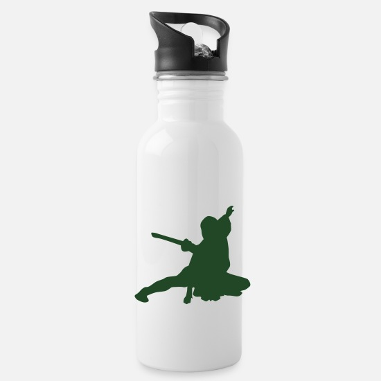 Japan Mugs & Drinkware - Vector Asian Silhouette - Water Bottle white