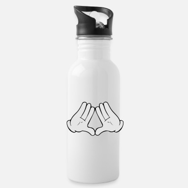 Mickey Hands Diamond Mickey Mouse Diamond Hands - Water Bottle