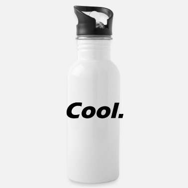 Cool. (black) - ironical Statement - Water Bottle