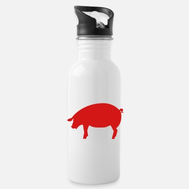 Swine Flu pig - pork - swine - Water Bottle