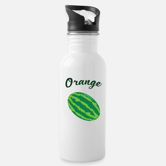 Orange Juice Mugs & Drinkware - Hilarious Orange - Water Bottle white