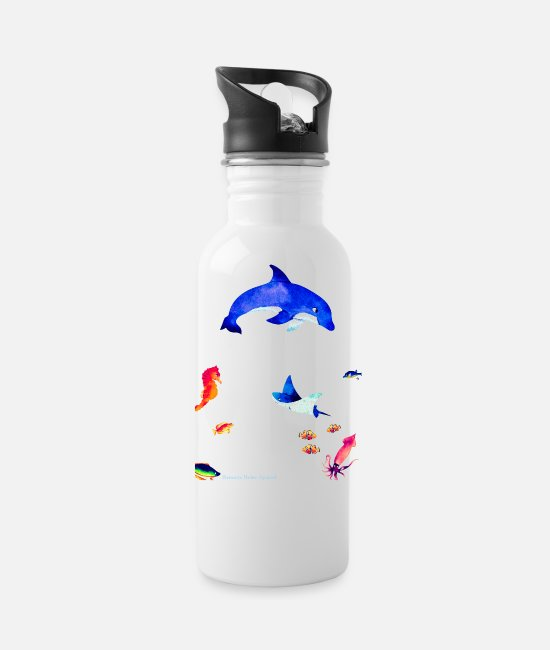 "Ocean Mugs & Cups - ""The Echos"" - Water Bottle white"