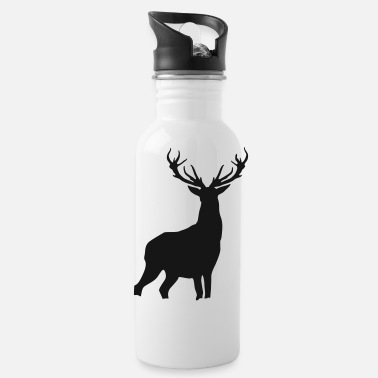 Antler Deer with antlers - Water Bottle