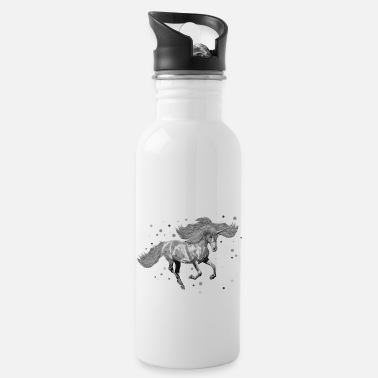 Grey Unicorn - grey - Water Bottle