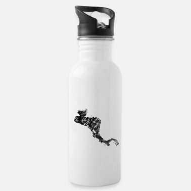 Central America Central America map with country borders - Water Bottle