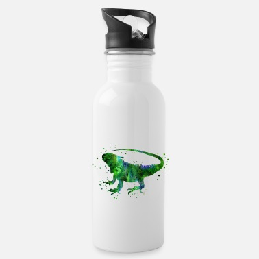 Iguana Iguana, green iguana, iguana poster - Water Bottle