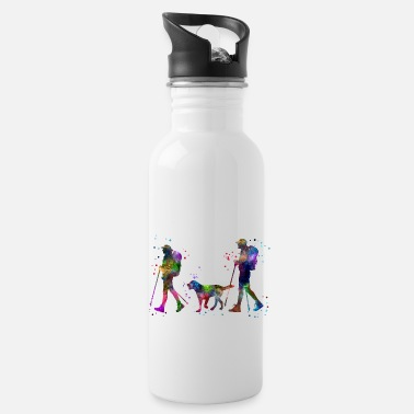 Couples Traveling as a couple, couple, couple traveling - Water Bottle
