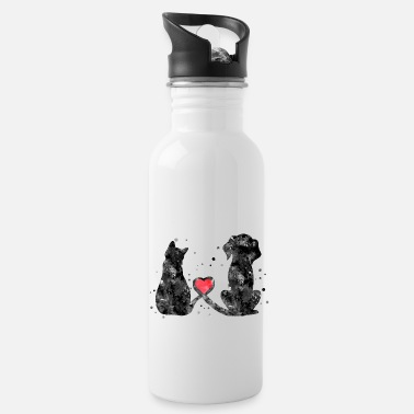 Cats Cat and dog - Water Bottle