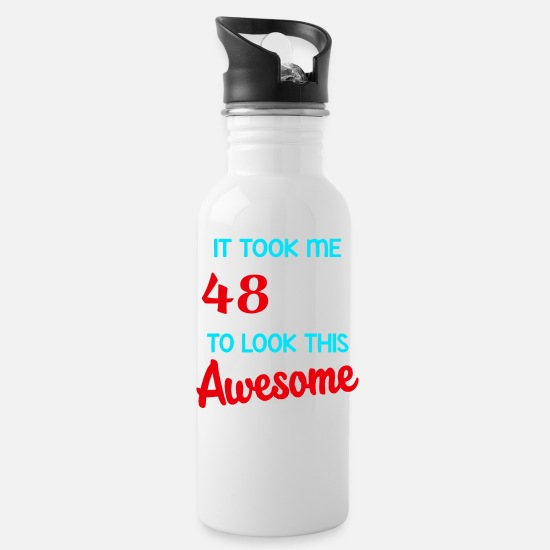 Age Mugs & Drinkware - It took me 48 years to look this awesome - Water Bottle white