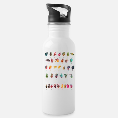 Sign Language Sign Language Alphabet - Water Bottle