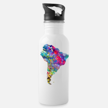 South America South America map - Water Bottle