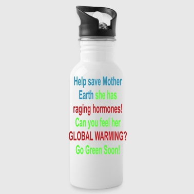 help_save_mother_earth - Water Bottle