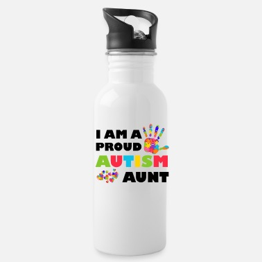 Aunt I'm A Proud Autism Aunt Autism Awareness - Water Bottle