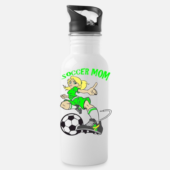 Soccer Mugs & Drinkware - SOCCER MOM - Water Bottle white
