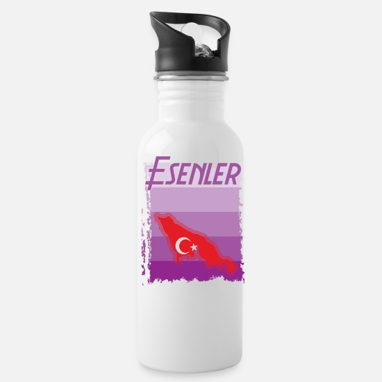 Provence Mugs & Drinkware - Esenler Turkish Provence Turkey gift - Water Bottle white