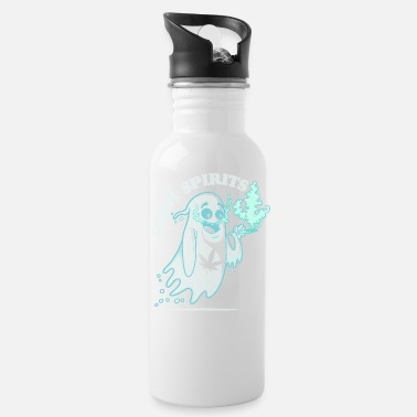 High Spirits - Funny Halloween Pothead Stoner - Water Bottle