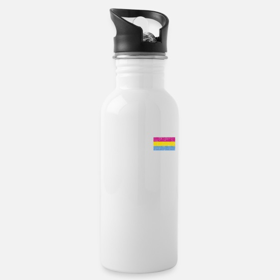 Funny Mugs & Drinkware - cool saying Pansexuality Pansexual LGBTQ LGBT - Water Bottle white
