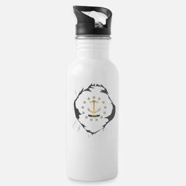 Island Rhode Island Jersey | Gift for Rhode Islander, RI - Water Bottle