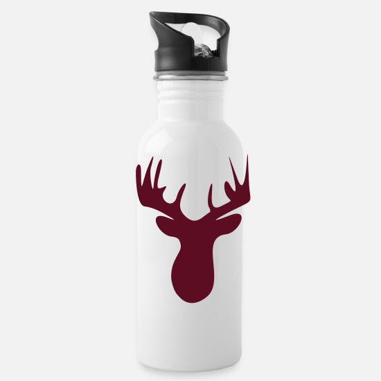 Reindeer Mugs & Drinkware - elk - Water Bottle white