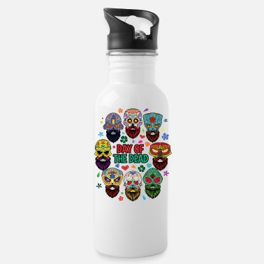 Sugar Skull Day Of The Dead Day of the Dead Beard Sugar Skull - Water Bottle
