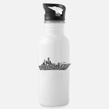 Nato NATO Phonetic Alphabet SHip - Water Bottle