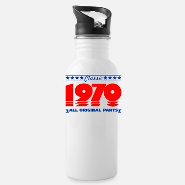 Production Year classic 1970 all original original part 50th birth - Water Bottle