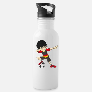 Flag Of Germany Dabbing Soccer Football Player Foosball German - Water Bottle