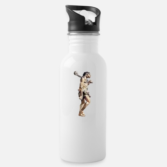 Primitive Man Mugs & Drinkware - Neanderthal - Water Bottle white