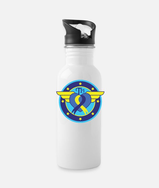 Down Syndrome Mugs & Cups - Down syndrome Hero - Water Bottle white